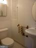 Basement Bathroom with Tile Floor - 2047 CHADDS FORD DR, RESTON
