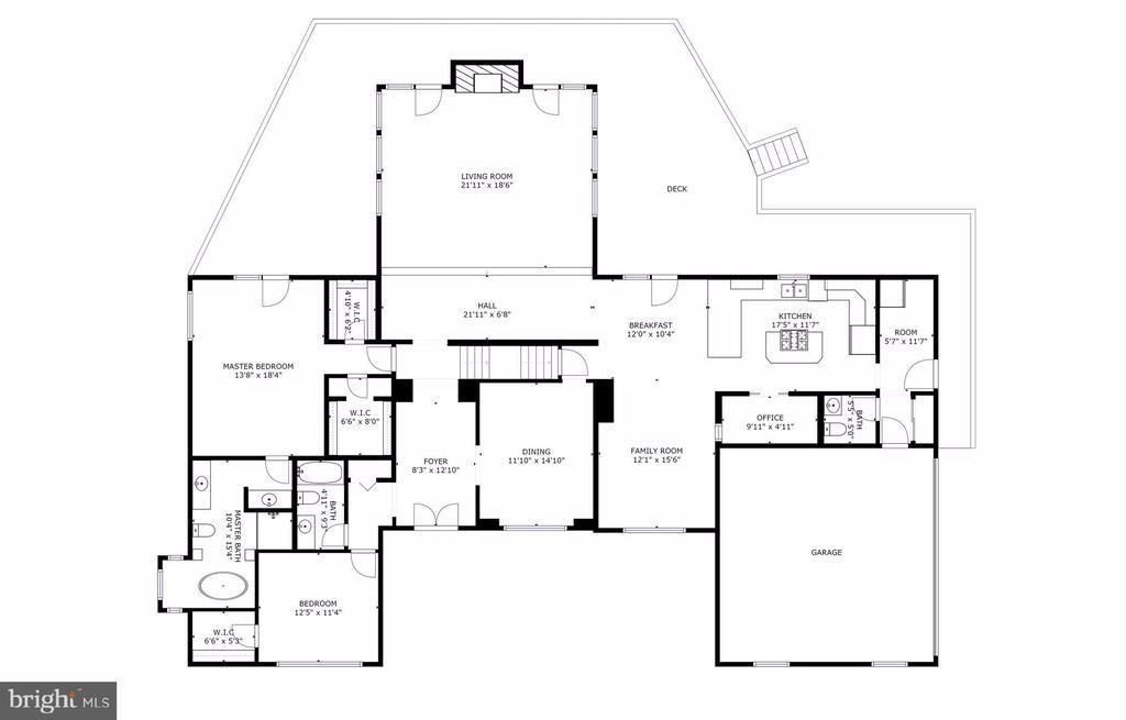 Main Level Floor Plan - 5322 BLACK OAK DR, FAIRFAX