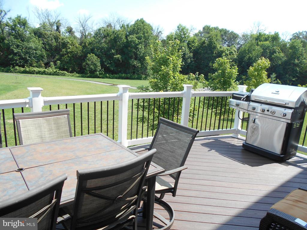 DECK OFF KITCHEN OVERLOOKING TREED  MEADOW - 42518 STRATFORD LANDING DR, BRAMBLETON
