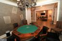 Separate card / game room with custom mural - 529 SPRINGVALE RD, GREAT FALLS