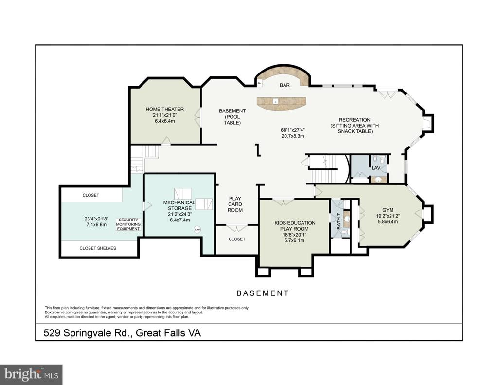 Lower level floor plan - 529 SPRINGVALE RD, GREAT FALLS