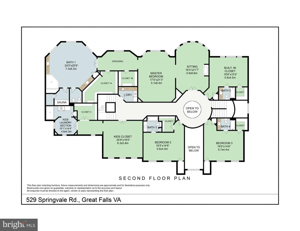Upper level floor plan - 529 SPRINGVALE RD, GREAT FALLS