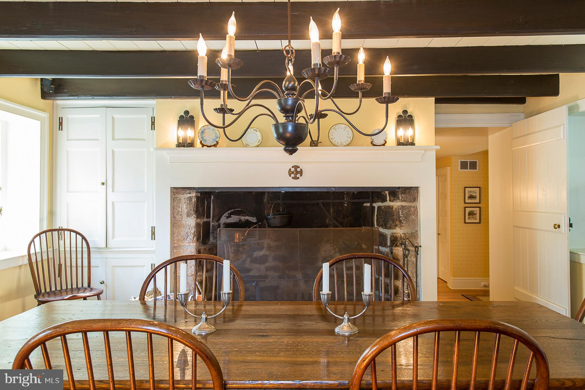 The fireside dining room is is the oldest section.