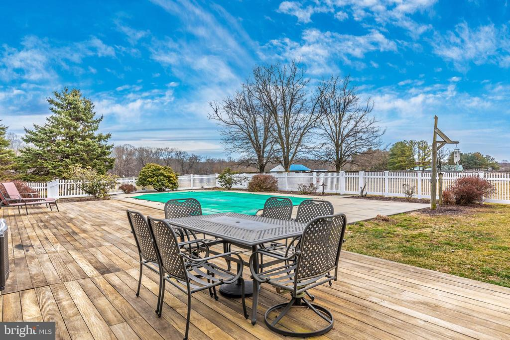 Ipe Deck View of Pool - 4320 DAMASCUS RD, GAITHERSBURG