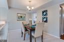Dining Room - 5506 LA CROSS CT, FAIRFAX