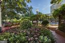 Verdant landscaping throughout! - 5630 WISCONSIN AVE #807, CHEVY CHASE