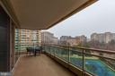 Spacious balcony! - 5630 WISCONSIN AVE #807, CHEVY CHASE