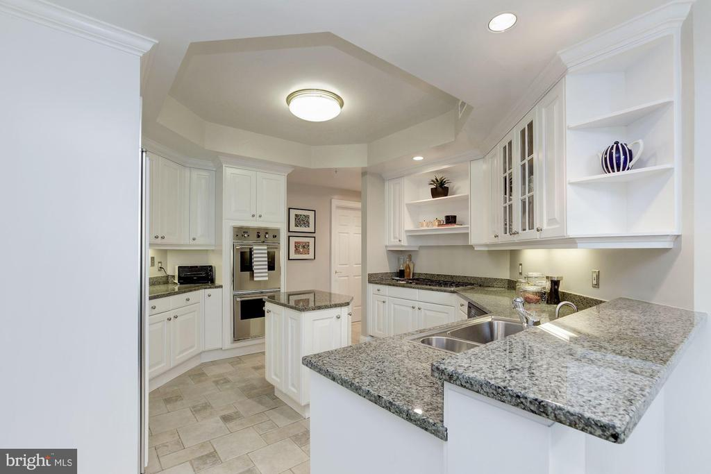 Gourmet kitchen w/ granite counters and gas stove! - 5630 WISCONSIN AVE #807, CHEVY CHASE