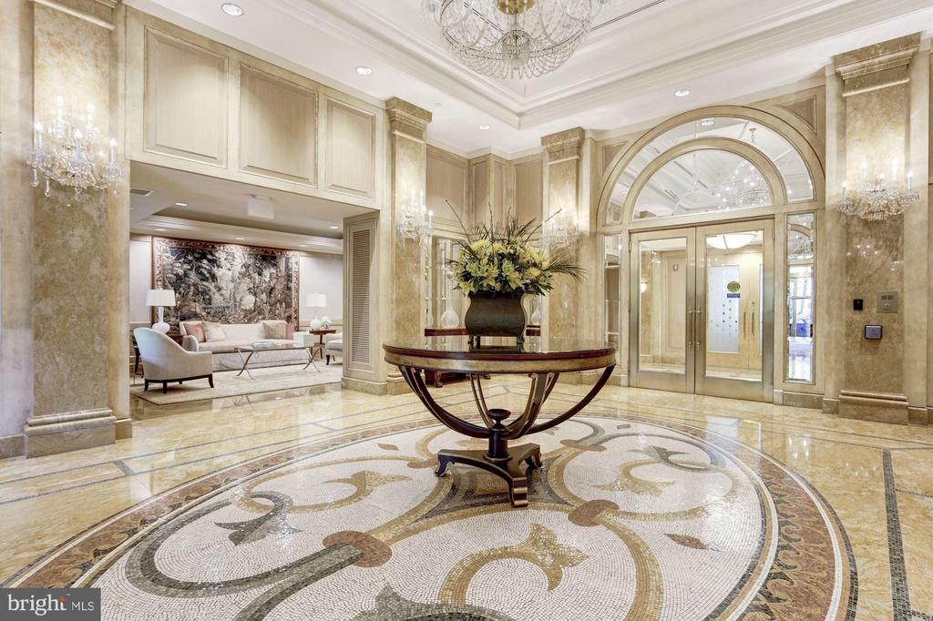 Gorgeous Lobby in Parc Somerset - 5630 WISCONSIN AVE #807, CHEVY CHASE
