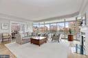 Spacious Living Room w/ floor to ceiling windows - 5630 WISCONSIN AVE #807, CHEVY CHASE