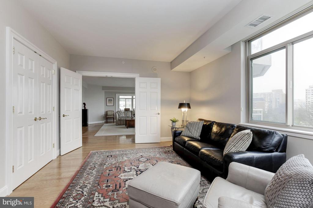 Library/Den opens to Living Room - 5630 WISCONSIN AVE #807, CHEVY CHASE