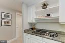 Gas stove! - 5630 WISCONSIN AVE #807, CHEVY CHASE