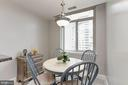 Bright & sunny Breakfast Room Area! - 5630 WISCONSIN AVE #807, CHEVY CHASE