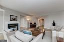 Living room with - 5630 WISCONSIN AVE #807, CHEVY CHASE