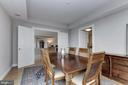 Dining room opens to Living Room - 5630 WISCONSIN AVE #807, CHEVY CHASE