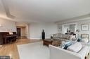 Living Room opens to Dining Room - 5630 WISCONSIN AVE #807, CHEVY CHASE