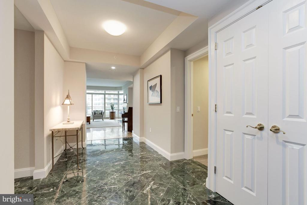 Gracious Foyer with marble floors - 5630 WISCONSIN AVE #807, CHEVY CHASE