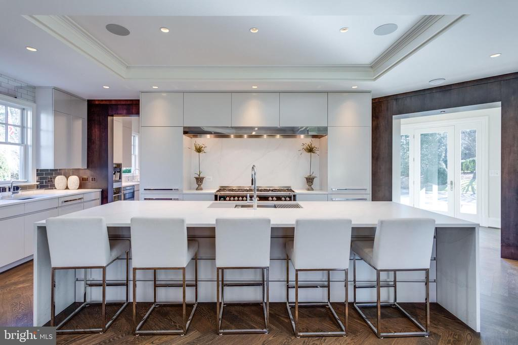 Dramatic kitchen - 7301 DULANY DR, MCLEAN