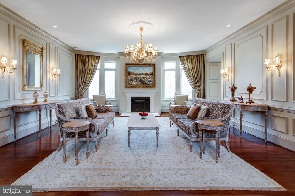 Elegant Living Room - 9179 OLD DOMINION, MCLEAN