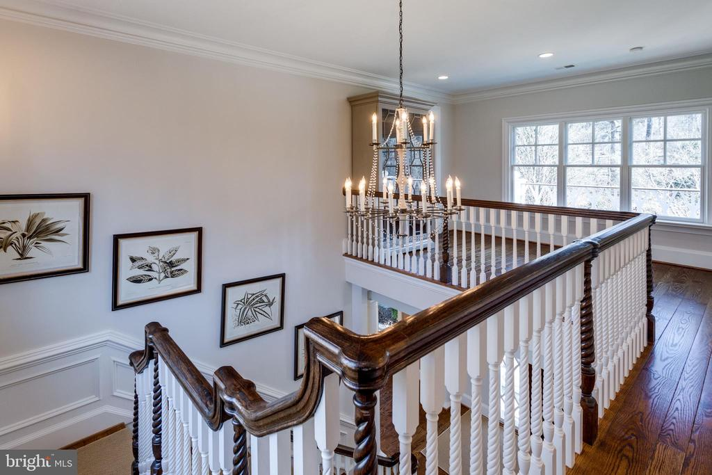 Gorgeous stairway details - 7301 DULANY DR, MCLEAN