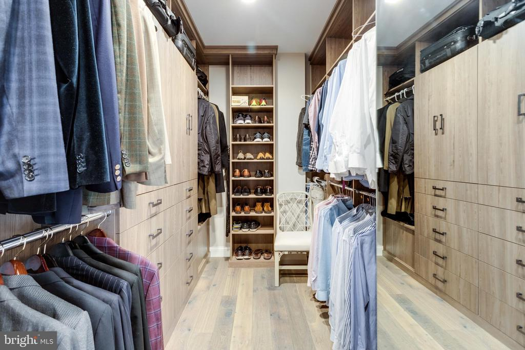 Mstr closet 2 is well outfitted w/built-ins - 7301 DULANY DR, MCLEAN