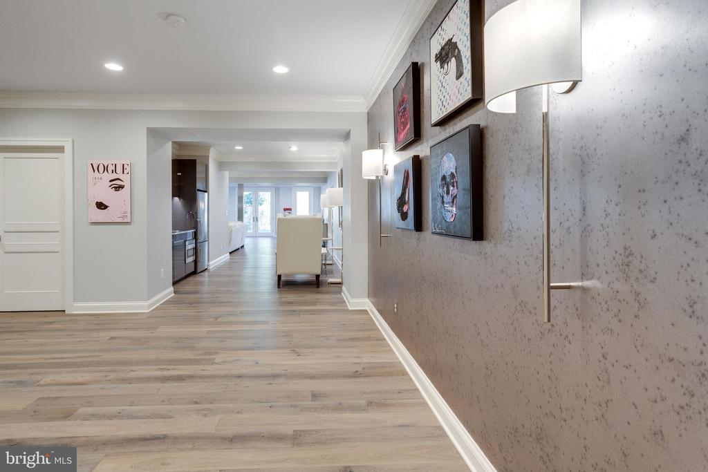 Hall towards rec room - 7301 DULANY DR, MCLEAN