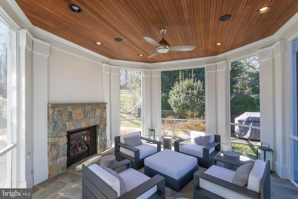 Beautiful screened in porch w/gas fireplace - 7301 DULANY DR, MCLEAN