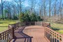 Master suite's private deck - 7301 DULANY DR, MCLEAN
