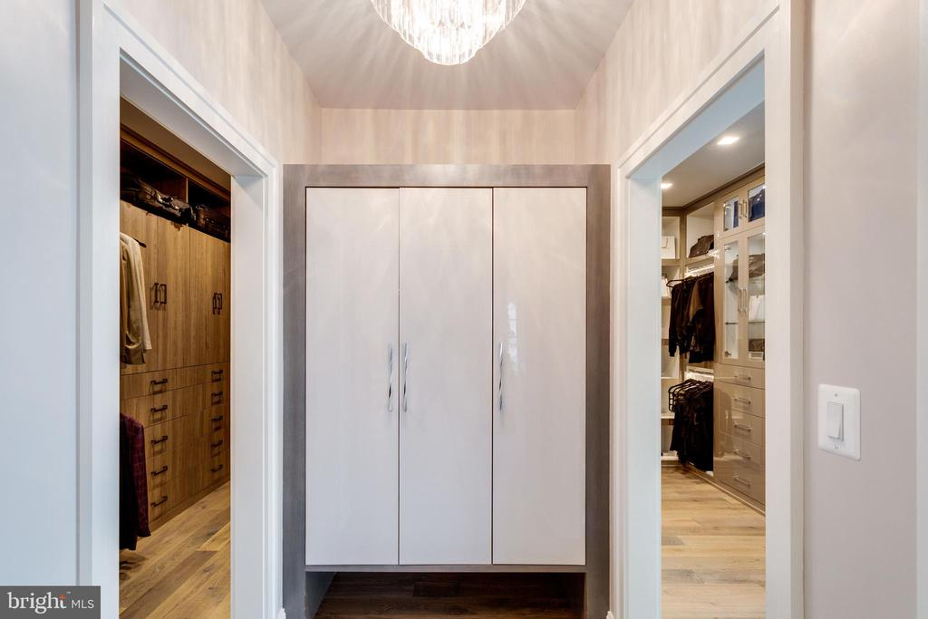 Master closet w/Miele coffee bar behind the doors - 7301 DULANY DR, MCLEAN