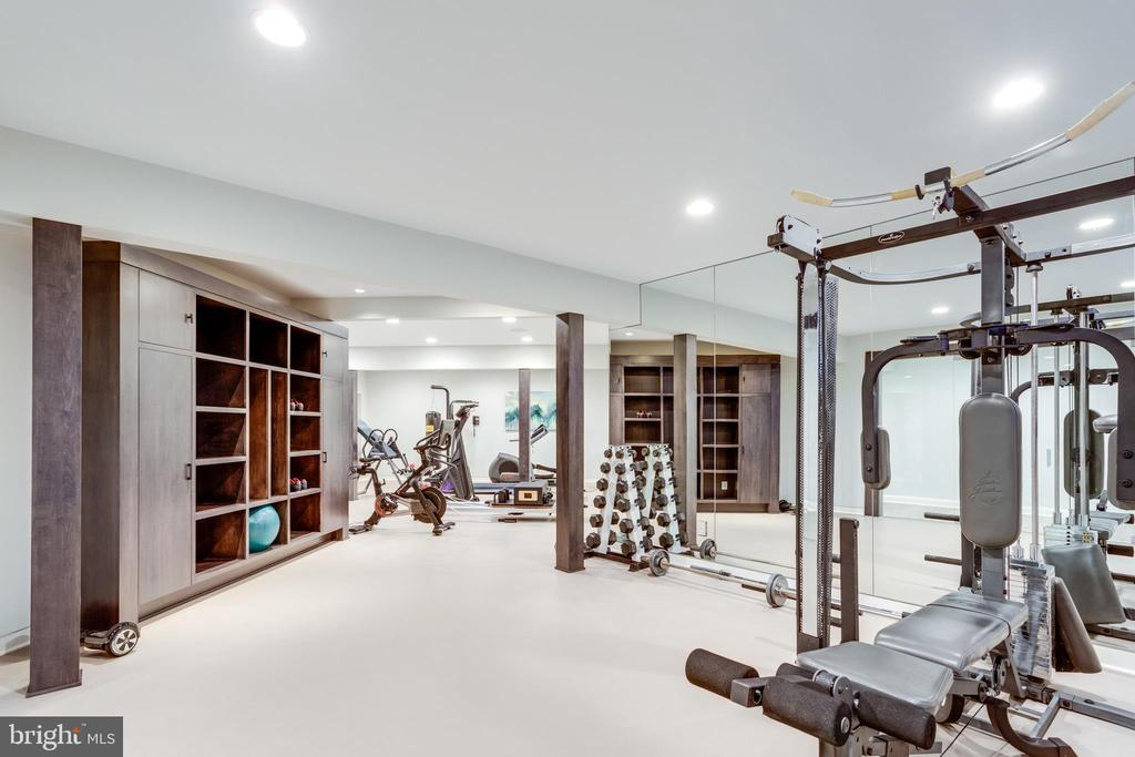 Even the gym has intelligently designed built ins - 7301 DULANY DR, MCLEAN