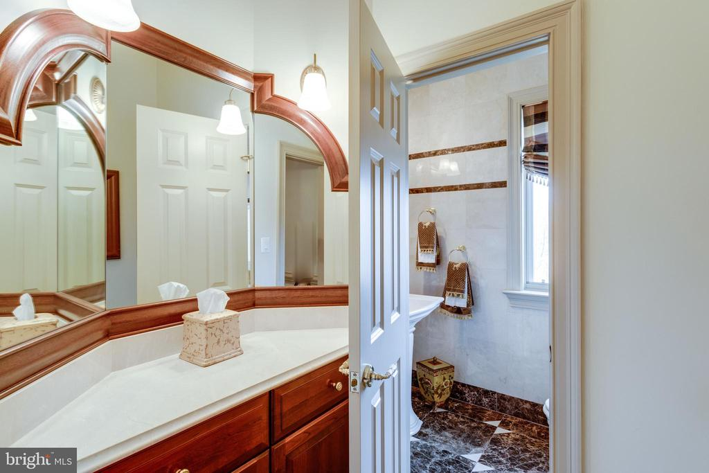 1 of 2 powder rooms on main level - 9179 OLD DOMINION, MCLEAN