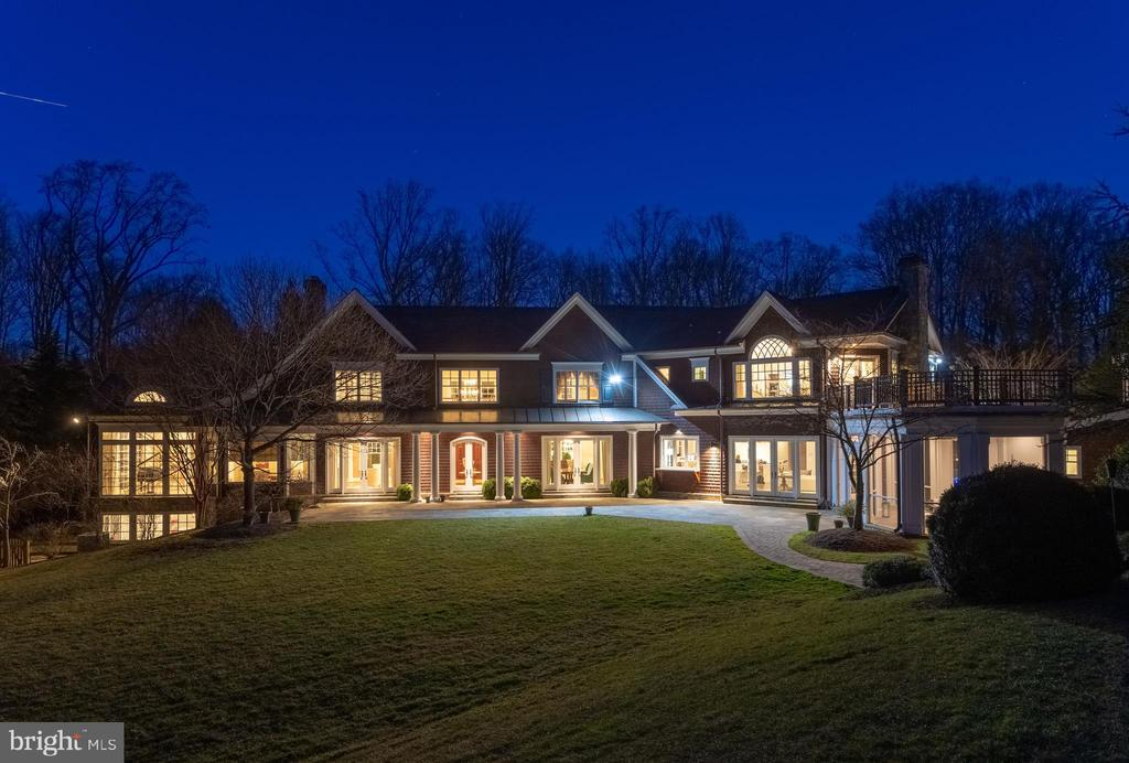 And the back is even better at dusk - 7301 DULANY DR, MCLEAN