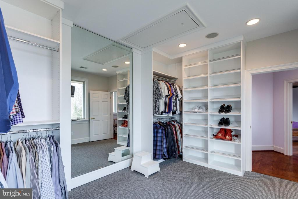2nd walk in closet - 9179 OLD DOMINION, MCLEAN