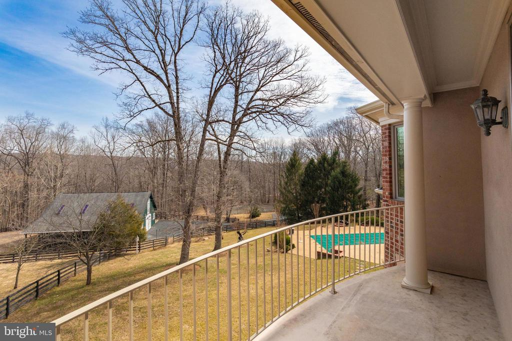 Balcony view from Owner's walk-in Master Closet - 9179 OLD DOMINION, MCLEAN