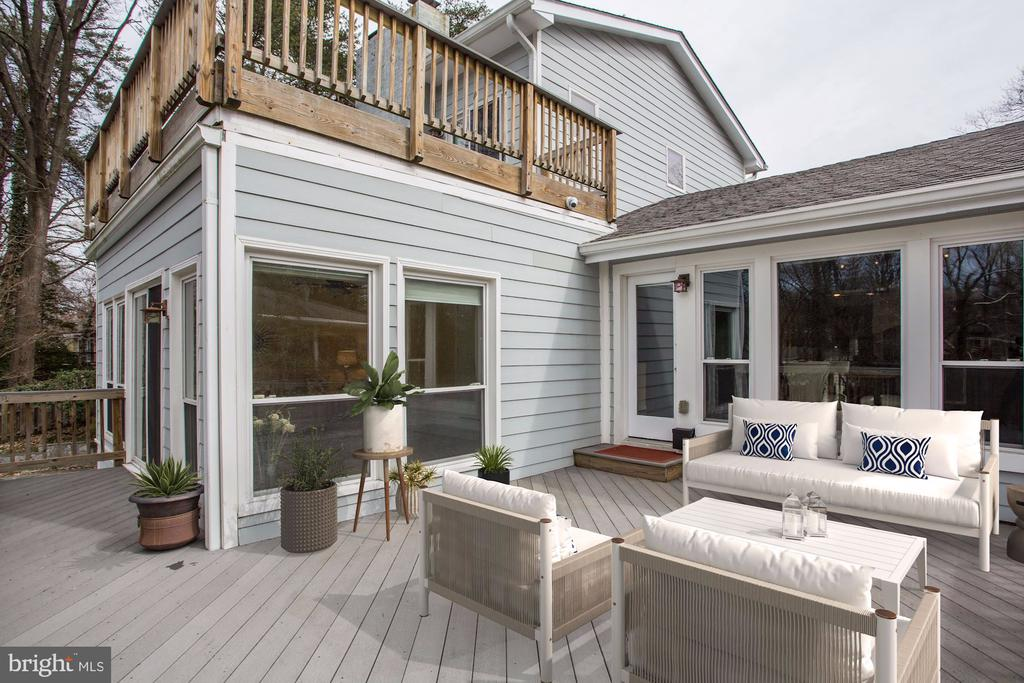 Deck next to the Dining/Kitchen Area & Sunroom - 3502 PINETREE TER, FALLS CHURCH