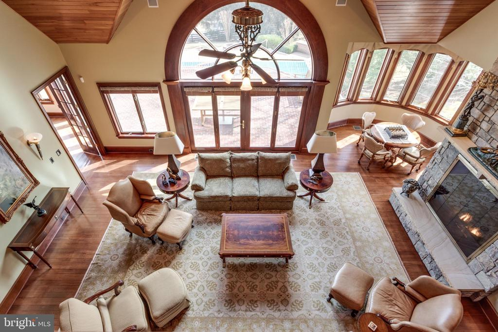 View of Family Room from 2nd floor gallery - 9179 OLD DOMINION, MCLEAN