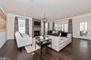 Living Room with Hardwood Flooring - 6437 DRESDEN PL, FREDERICK