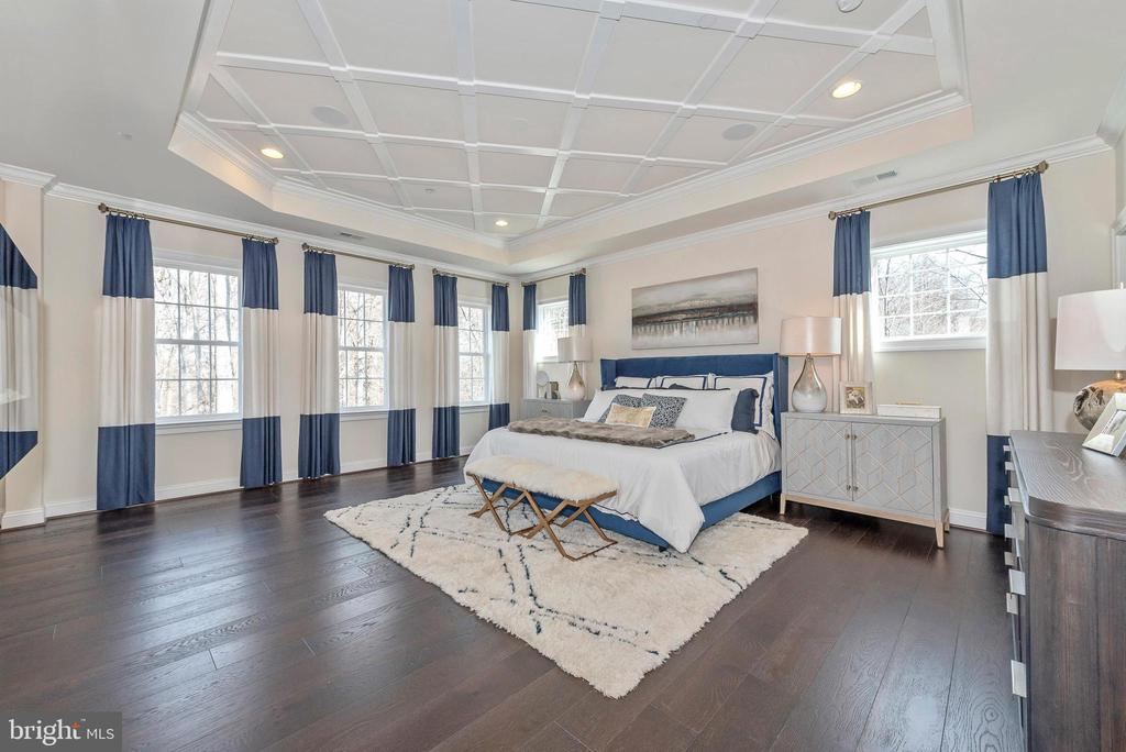 Master Bedroom with Tray Ceiling - 6437 DRESDEN PL, FREDERICK