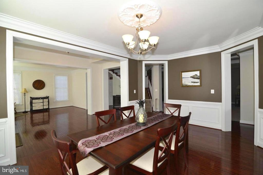 Spacious Dining Room for gatherings - 4210 BURKE STATION RD, FAIRFAX