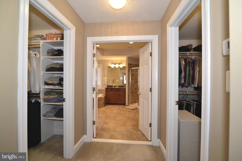 Separate walk in closets - 4210 BURKE STATION RD, FAIRFAX