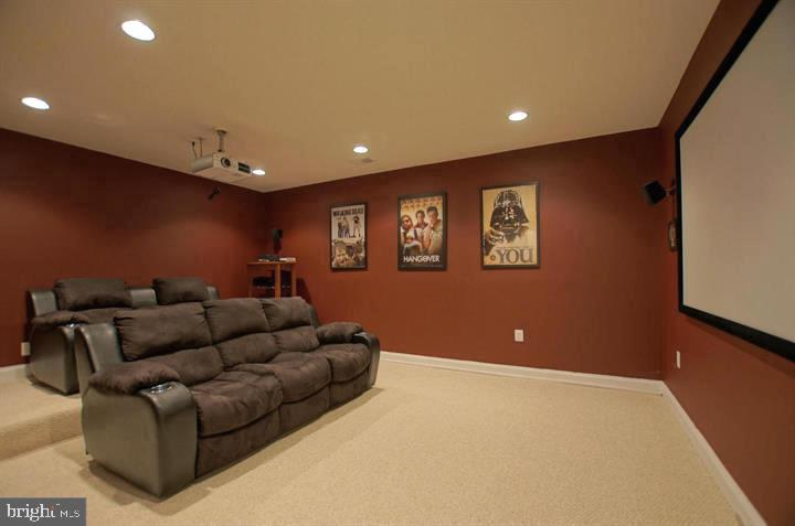 Optional Media Room in Basement - 4210 BURKE STATION RD, FAIRFAX
