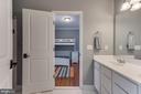 Jack & Jill bath for bedrooms 2 and 3 - 121 SINEGAR PL, STERLING