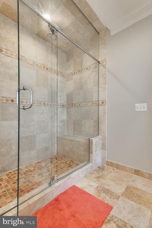 Master bath shower - 121 SINEGAR PL, STERLING