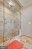 Master bath shower - 121 SINEGAR PL, STERLING
