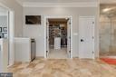 Large walk-in closet off master bath - 121 SINEGAR PL, STERLING