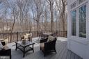 Main level deck opens from family room - 121 SINEGAR PL, STERLING
