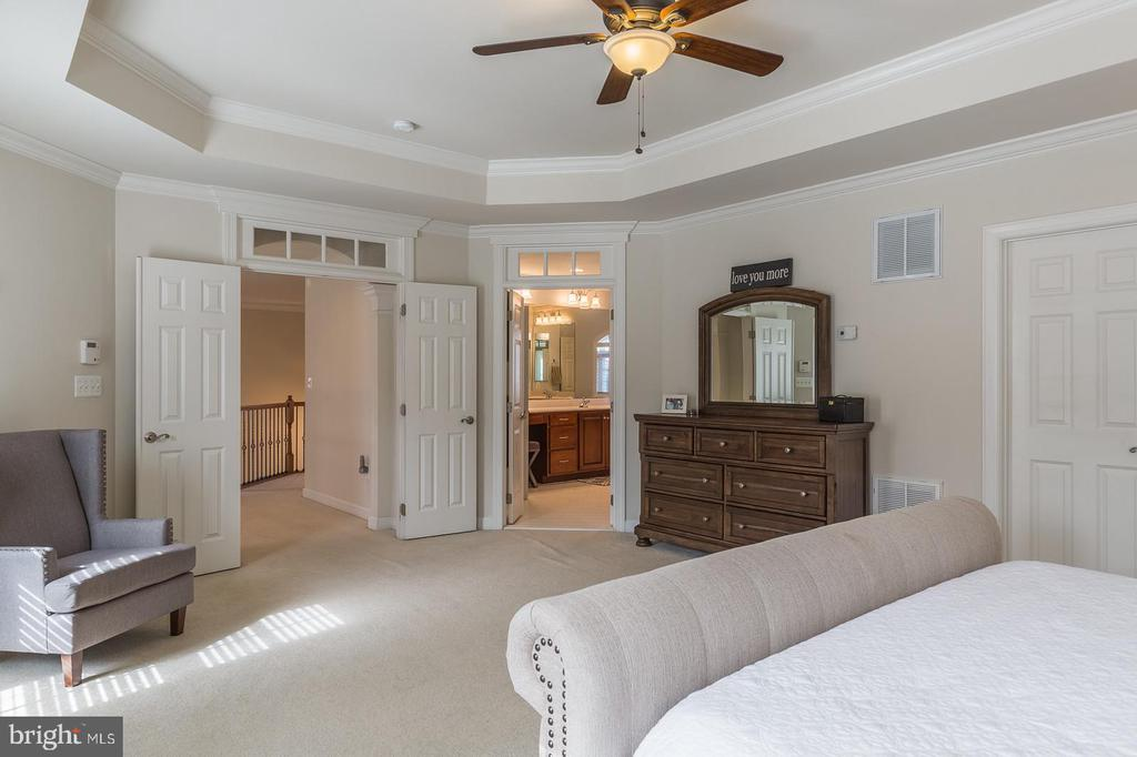 Extra high tray ceilings in master suite - 18487 KERILL RD, TRIANGLE