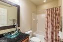 Full bath on lower level - 18487 KERILL RD, TRIANGLE