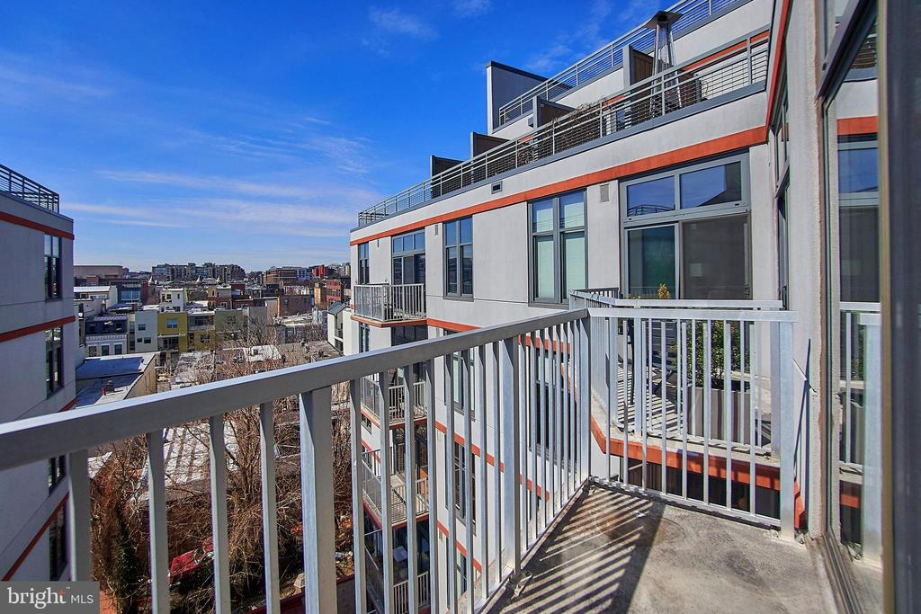 Balcony off of Living Room on Main Level - 2120 VERMONT AVE NW #611, WASHINGTON