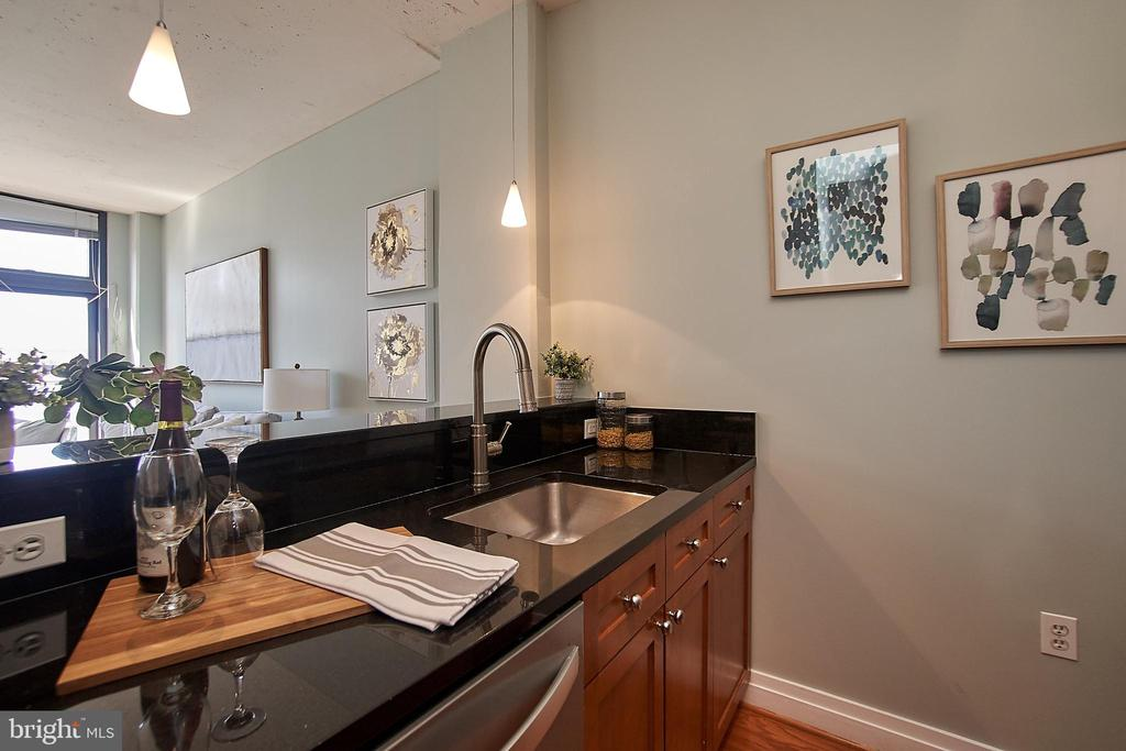 Kitchen with brand new dishwasher - 2120 VERMONT AVE NW #611, WASHINGTON